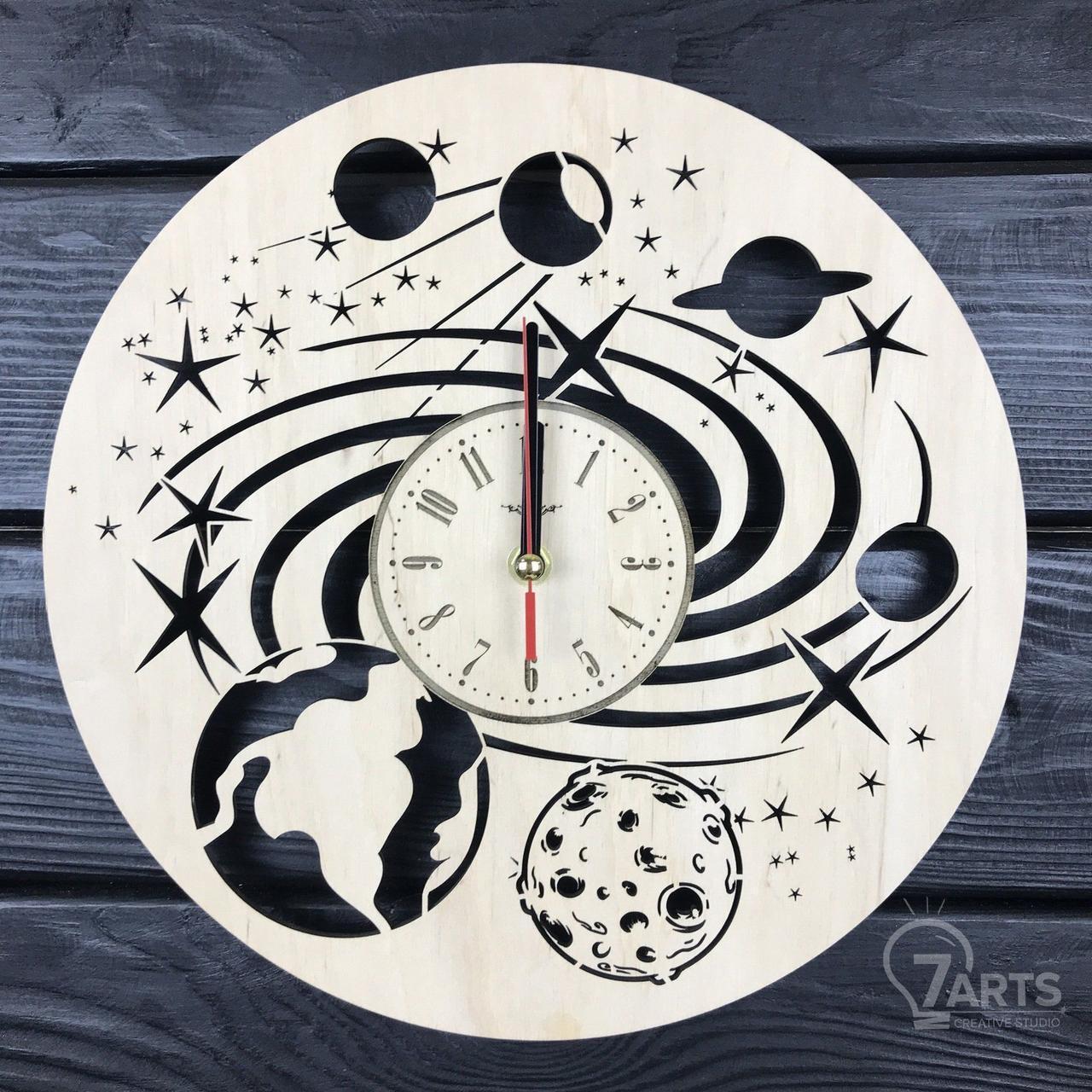 Дизайнерские настенные часы «Космос»
