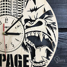 Круглые дизайнерские деревянные часы «Rampage», фото 2
