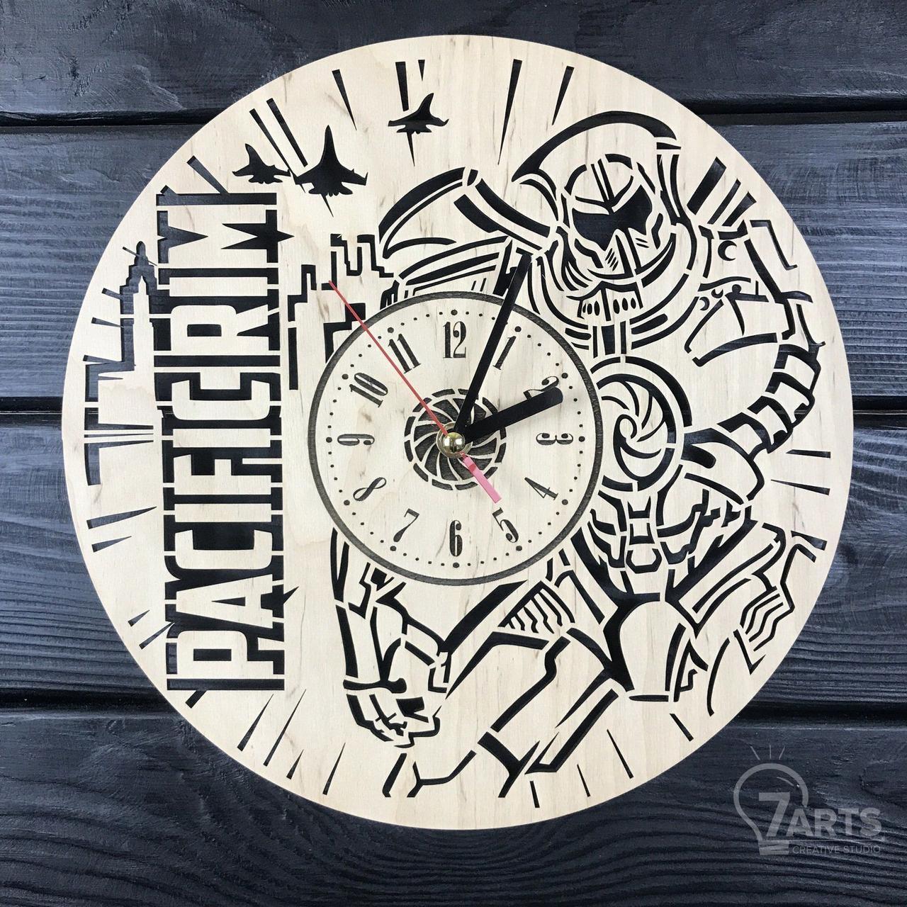 Стильные настенные деревянные часы «Тихоокеанский рубеж»