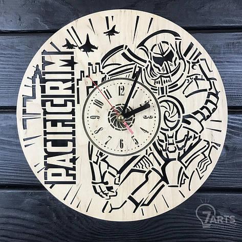 Стильные настенные деревянные часы «Тихоокеанский рубеж», фото 2