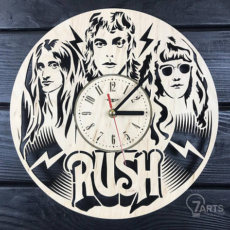 Часы из натурального дерева настенные «Rush», фото 2