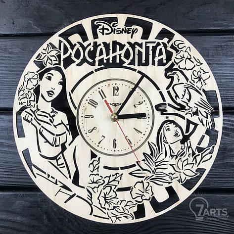 Дизайнерские детские настенные часы «Покахонтас», фото 2