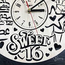 Часы настенные из дерева «Сладкие 16», фото 3