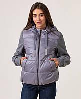 Куртки женские демисезонные украина модные 42-48 серый