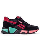 Жіночі легкі кросівки Lonza YY8888-2 BLACK/RED, фото 2
