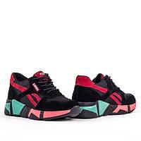 Женские легкие кроссовки Lonza YY8888-2 BLACK/RED