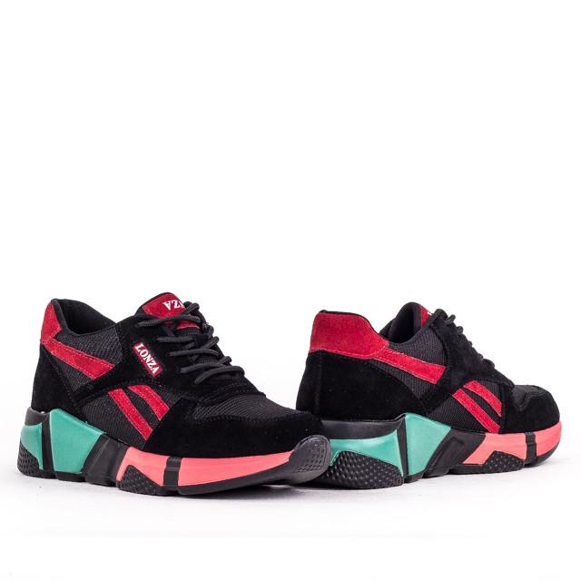 Жіночі легкі кросівки Lonza YY8888-2 BLACK/RED