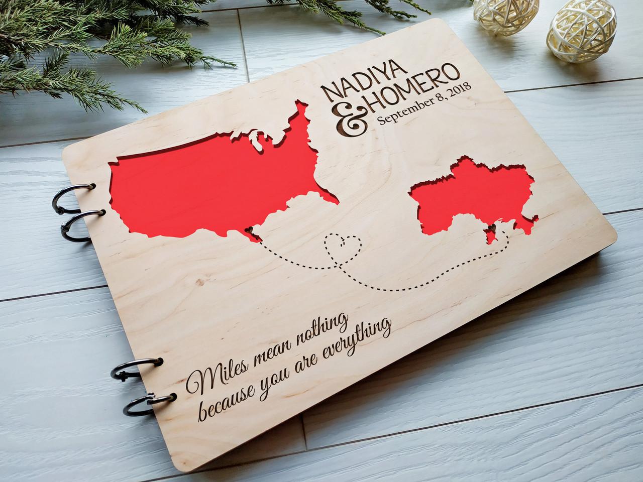 Альбом деревянный ручной работы на свадьбу