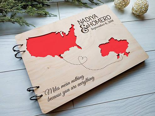 Альбом деревянный ручной работы на свадьбу, фото 2