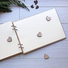 Альбом деревянный ручной работы на свадьбу, фото 3