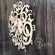 Интерьерные часы на стену из древа с котами, фото 2