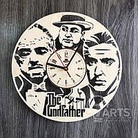 """Круглые большие часы из дерева в гостиную """"Крестный отец"""""""