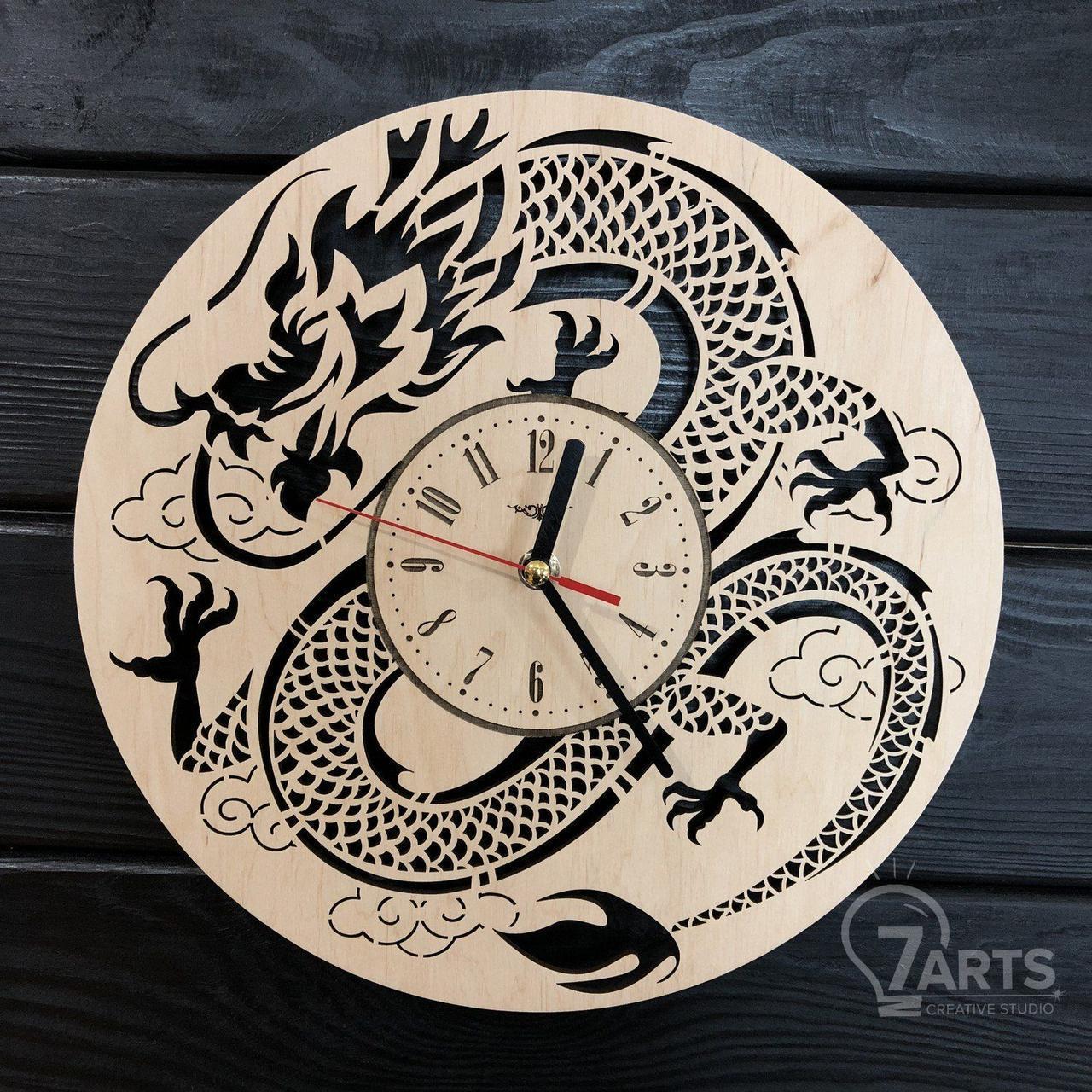 Интерьерные настенные часы бесшумные на восточную тематику