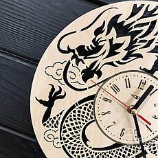Интерьерные настенные часы бесшумные на восточную тематику, фото 3