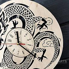 Интерьерные настенные часы бесшумные на восточную тематику, фото 2