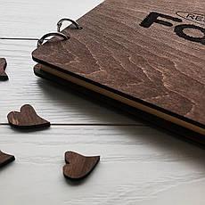 Стильная книга отзывов в деревянной обложке с логотипом на заказ, фото 2