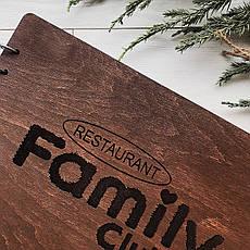 Стильная книга отзывов в деревянной обложке с логотипом на заказ, фото 3