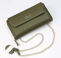 Женский клатч сумочка Baellerry Leather green