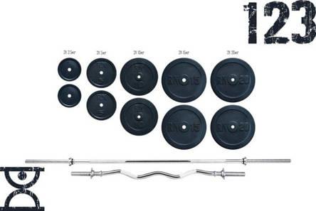 Прямая хромированя Штанга 115 кг + W-образный гриф хромированый для дома или спортзала, фото 2