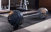 Прямая хромированя Штанга 115 кг + W-образный гриф хромированый для дома или спортзала, фото 3
