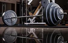 Штанга прямая 150см на 82 кг с хромированным грифом для занятий спортом, фото 3