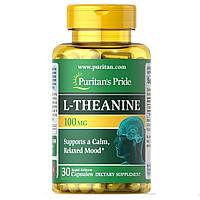 Аминокислота Л-Теанин Puritan's Pride L-Theanine 100 mg 30 капс.
