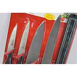 Набор металлических ножей Swiss Zurich SZ-13101 + магнитная рейка-держатель, фото 2