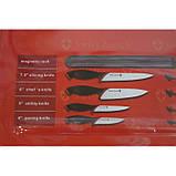 Набор металлических ножей Swiss Zurich SZ-13101 + магнитная рейка-держатель, фото 3