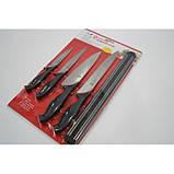 Набор металлических ножей Swiss Zurich SZ-13101 + магнитная рейка-держатель, фото 5