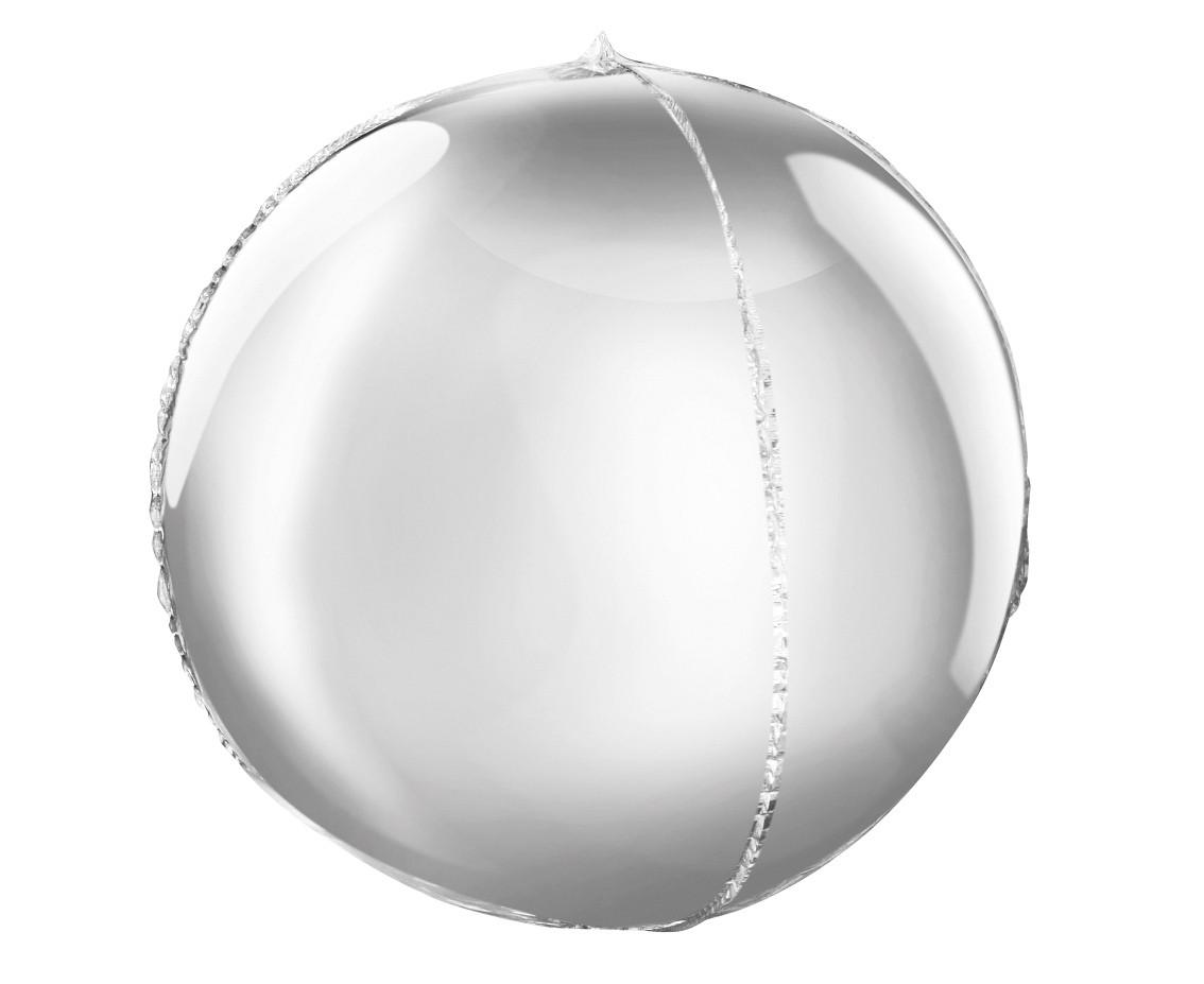 """Фольгована кулька сфера срібний 16"""" 41см Godan"""