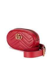 Женская поясная сумка на пояс в стиле Gucci красная