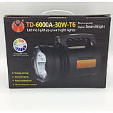 Мощный Светодиодный Фонарь TD 6000A 30 W Прожектор фонарик, фото 6