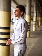 Белый спортивный костюм мужской весна, фото 1