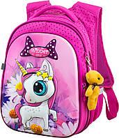 Рюкзак ортопедический школьный розовый Winner One R1-005 для 1-4 класса для девочки Единорог Пони 29*19*38см