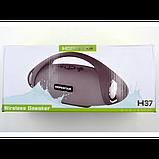 Портативная bluetooth стерео колонка спикер Hopestar H37 Серый, фото 4