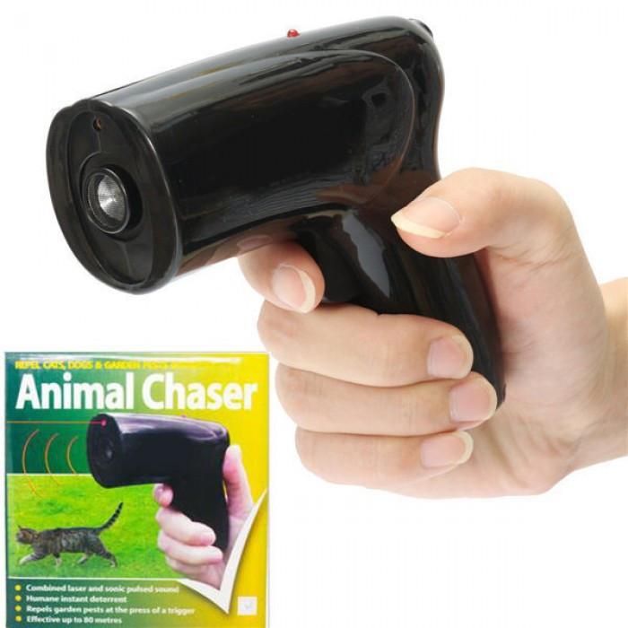 Ультразвуковой отпугиватель собак с лазером Scram Patrol