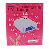УФ лампа для наращивания ногтей на 36 Вт Синяя, фото 6