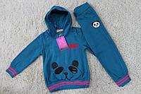 Утепленный костюм с начесом для девочек 4 года