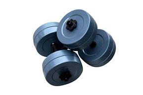 Гантелі RN-Sport гранилитные по 10 кг (GD-10), фото 3