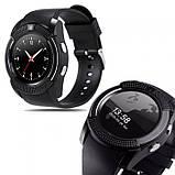 Сенсорные Smart Watch V8 смарт часы умные часы Чёрные, фото 2
