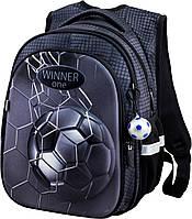 Рюкзак школьный ортопедический Winner One R1-007 для 1-4 класса для мальчика Футбол 29*19*38см, фото 1