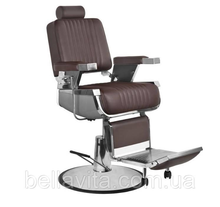 Парикмахерское мужское кресло Elegant Pro (коричневое)