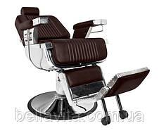 Перукарське чоловіче крісло Elegant Pro (коричневе), фото 3
