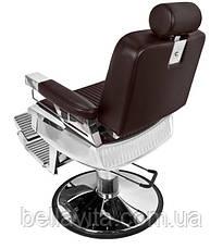 Парикмахерское мужское кресло Elegant Pro (коричневое), фото 2