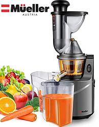 Профессиональная шнековая соковыжималка MuellerYL-60K кухонная электрическая для для овощей и фруктов