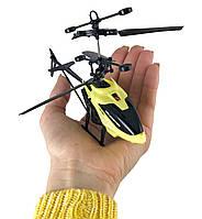 Летающий usb вертолет c сенсорным управлением рукой Induction Flight Желтый