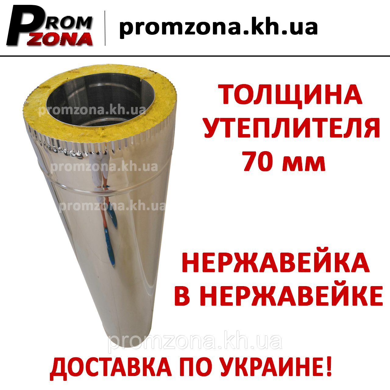 Труба сендвіч нержавіюча сталь AISI 304 1 мм в нержавіючій сталі