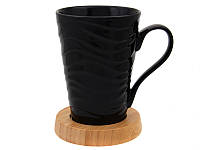 Чашка на бамбуковой подставке 400 мл, Lefard, 944-058