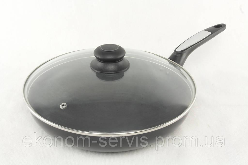 Сковорода А-ПЛЮС с крышкой 28см 1104