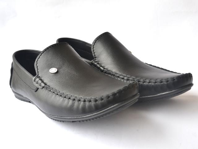 Мокасины мужские кожаные черные стильные весенняя обувь Rosso Avangard M4 Black Out